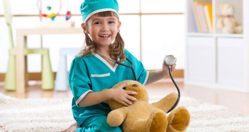 Wartezimmer beim Kinderarzt